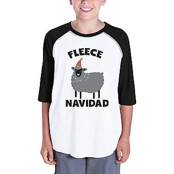 Fleece Navidad Kinder Raglan Baseball Shirt Weihnachten T-Shirt für die Jugend