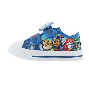 Boys Paw Patrol Pup Heroes Blue Canvas Trainers Sports Shoes Childrens Shoes UK Sizes 5-10