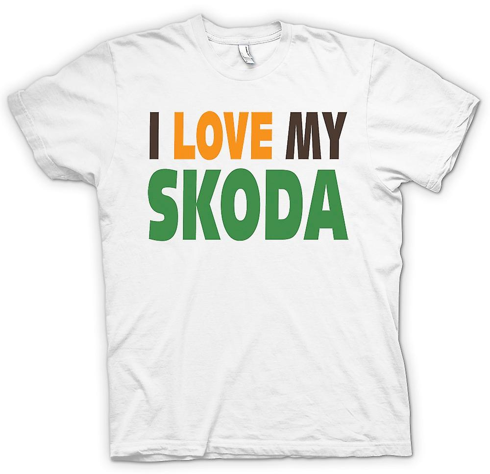 Mens T-shirt - I Love My Skoda - Car Enthusiast
