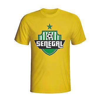 Senegal landet Logo t-skjorte (gul)