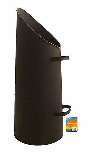Blackspur Bb-Fs302 Black Powder Coated Cast Iron Coal Scuttle Fireplace Fireside