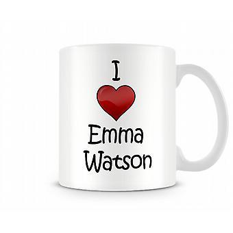 I Love Emma Watson Printed Mug