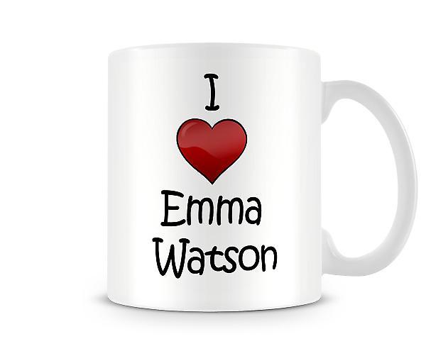 Ik hou van Emma Watson bedrukte mok