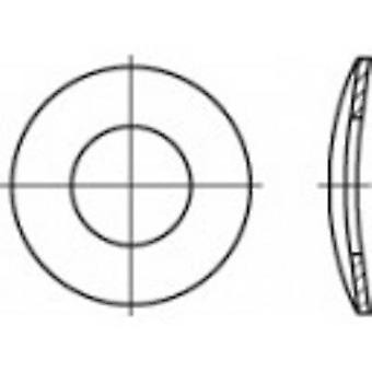 TOOLCRAFT 105925 Split lock washers Inside diameter: 6.4 mm DIN 137 Spring steel zinc plated 100 pc(s)