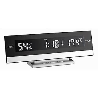 TFA 60.2011 Quartz Alarm clock Black, Silver