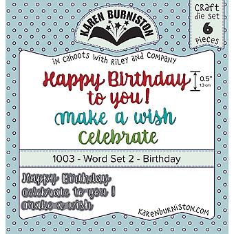 Karen Burniston Dies-Word Set 2 - Birthday