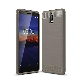 Look de 3.1 Nokia Housse silicone gris carbone cas cas TPU téléphone pare-chocs