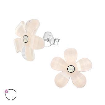 Flower Crystal From Swarovski® - 925 Sterling Silver Ear Studs - W37956x