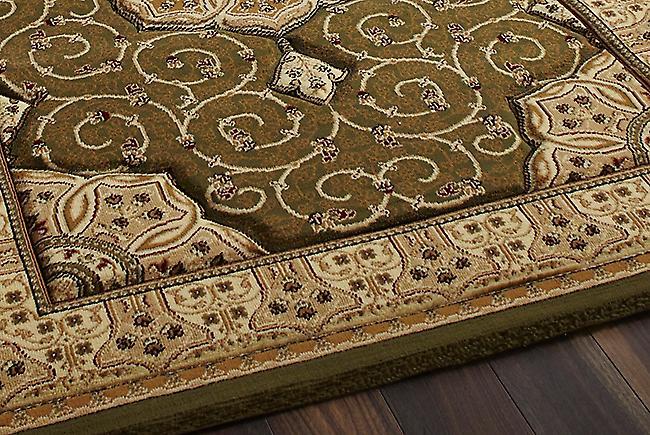 Erfgoed 4400 groen een groene achtergrond met een gratis beige boarder rechthoek tapijten traditionele tapijten