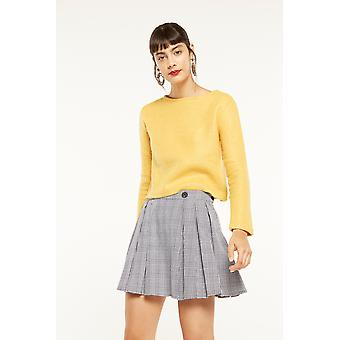 Side Party Check Pleated Mini Skirt