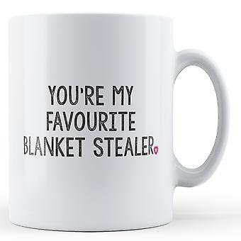 Decorativos de escrever que você é o meu cobertor favorito Stealer caneca de dia dos namorados