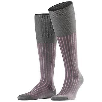 Ombra di Falke calze lunghe al ginocchio - grigio/rosa