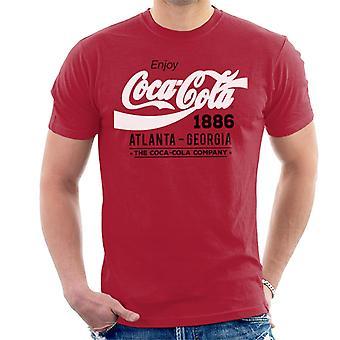 Coca Cola Black And White Classic Logo Men's T-Shirt