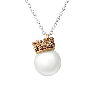 Crown - 925 Sterling Silver Jewelled Necklaces - W36228x