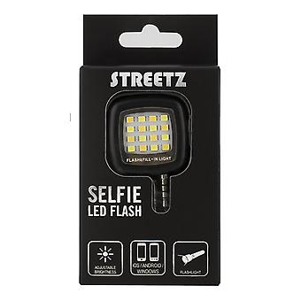 STREETZ Selfee LED flash for smartphones, 3.5 mm, black