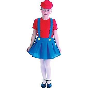 Plumber's Girl Red (Large Age 9-12)