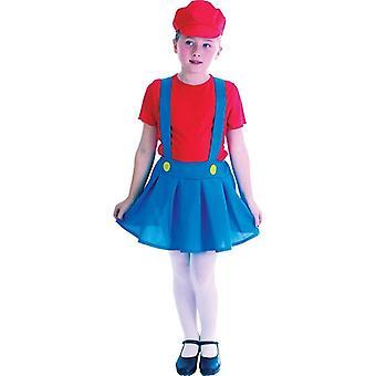 Czerwony dziewczyna hydraulik (duża 9-12 lat)