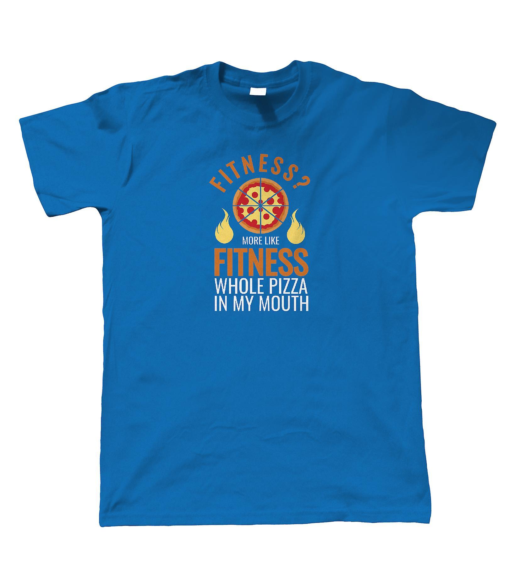 Fitness Pizza, Mens T Shirt