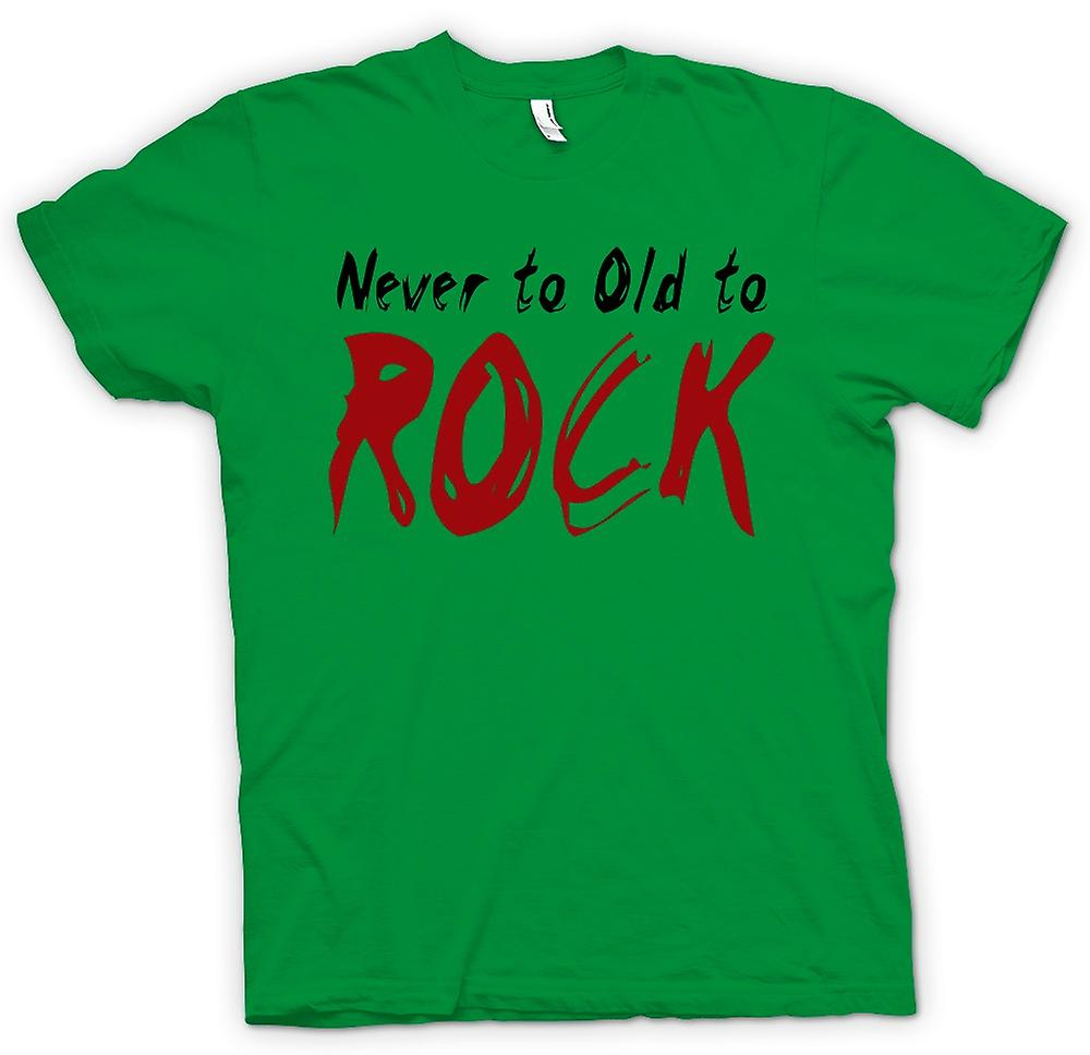 Heren T-shirt - nooit Too Old To Rock - Funny