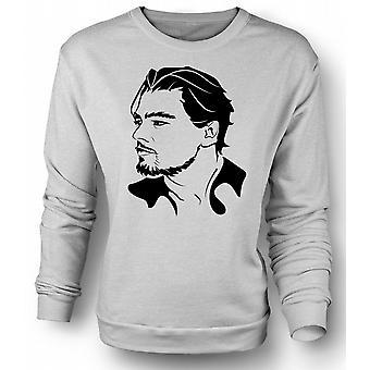 Womens Sweatshirt Leonardo Dicaprio portrett