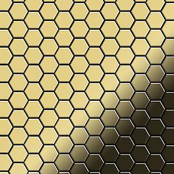 Metal mosaic Brass ALLOY Honey-BM