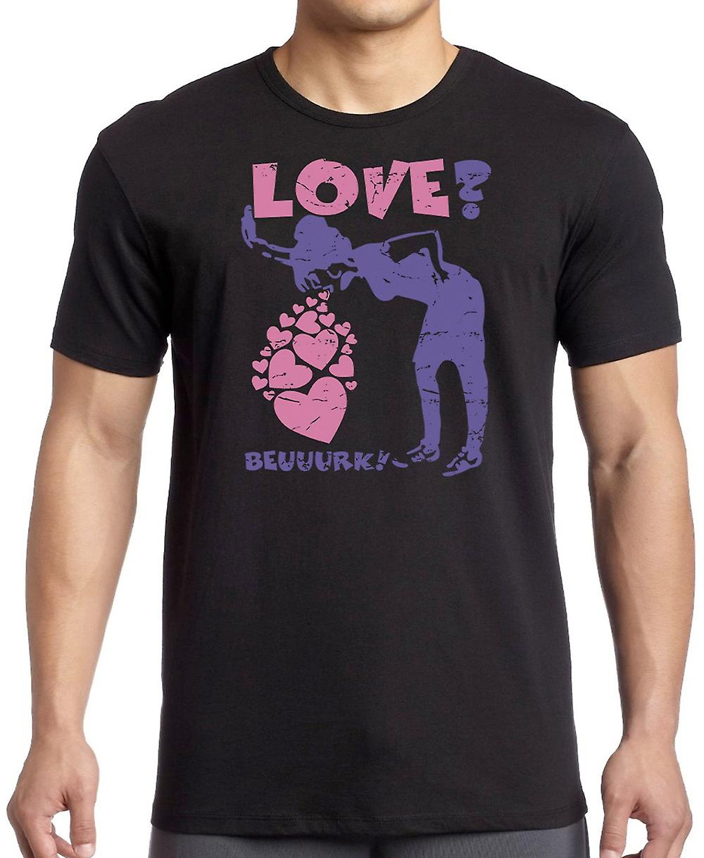 Love? Vomiting Love Hearts Girlfriend - Funny Crude Kids T Shirt