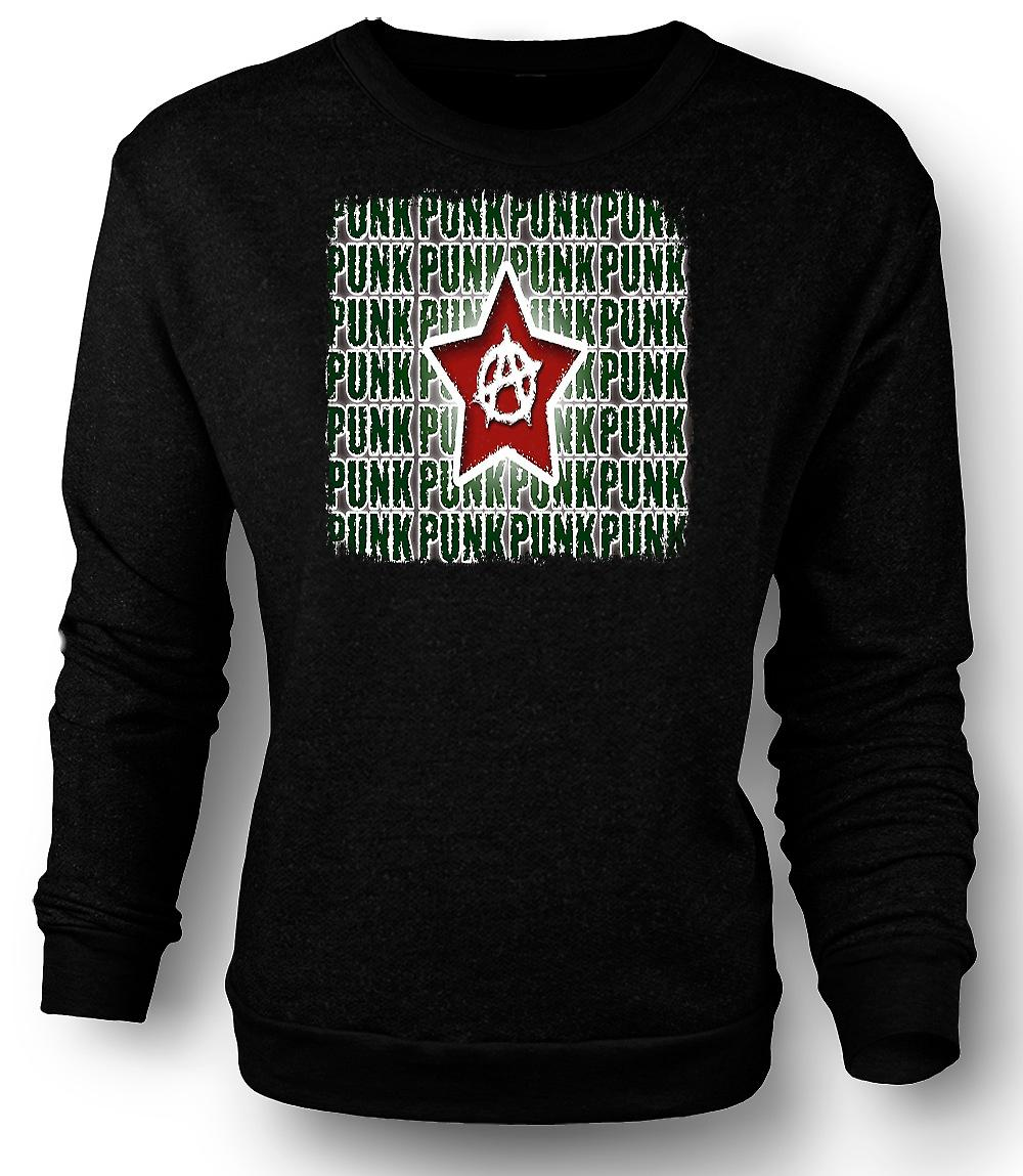 Mens Sweatshirt Rock Punk Anarchy - Design