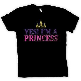 Womens T Shirt Yes Im A Princess - Funny