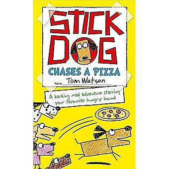 Bâton chien poursuit une Pizza (bâton chien 3)
