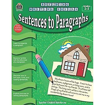 Phrases, paragraphes, notes 2 et 3
