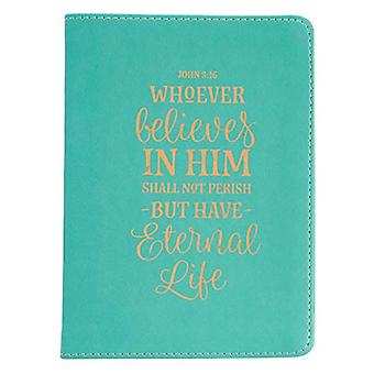 Whoever Believes in Him Handy Lux-Leather Journal