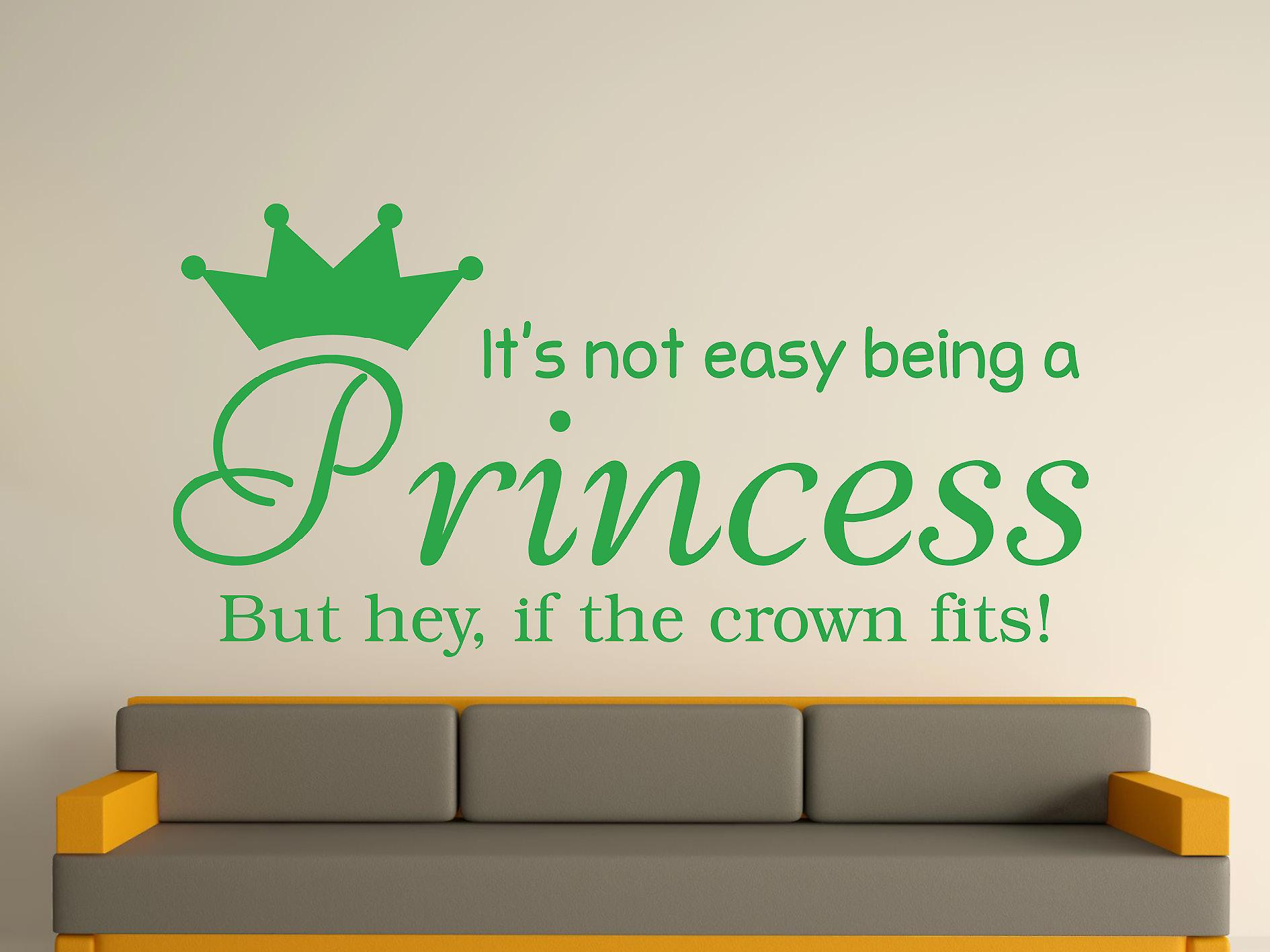Being A Princess Wall Art Sticker -  Green