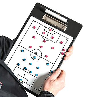 Precision Training Football Soccer Coaches Double Sided Tactic Clipboard