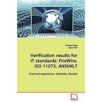 IT 標準のための検証結果 FireWire ISO 11073 ANSIHL7 ゴガ & ニコラエ