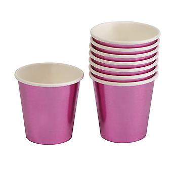Rosa hoja Mini taza/Shot Glass - Pack 8 partido de gallina
