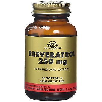 Solgar Resveratrol 250mg Softgels, 30