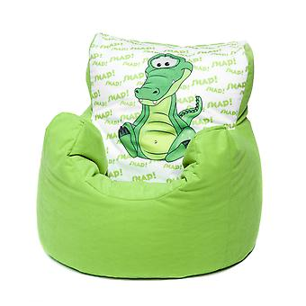 Loft 25® Toddler Animal Print Soft Plush Bean Bag Chair - Crocodile, Lime
