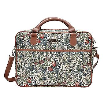 William morris - golden lily computer bag by signare tapestry / 15.6 inch / cpu-glily