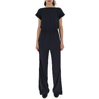 Max Mara Blue Silk Jumpsuit