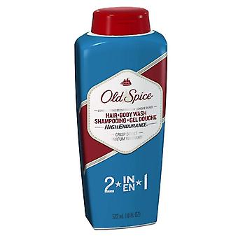 Old spice high endurance 2-in-1, hair & bodywash, 18 oz