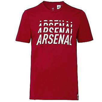 2019-2020 Arsenal Adidas DNA Graphic Tee (Maroon)