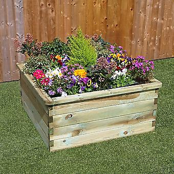 Zest 4 Leisure Sleeper Raised Bed Wooden Planter 0.90m
