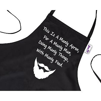 Funny Novelty BBQ Apron For Manly Man Cooking Gifts For Men