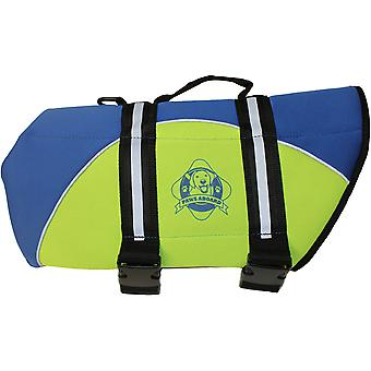 Paws Aboard Neoprene Doggy Life Jacket XXS-Blue & Yellow NEOXXS-B1100