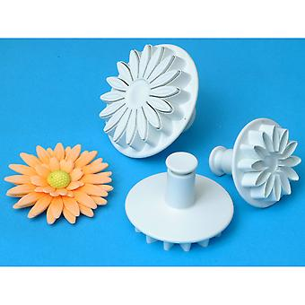 Plunger Cutter Set 3 Pieces Veined Sunflower Daisy Gerbera Sd618