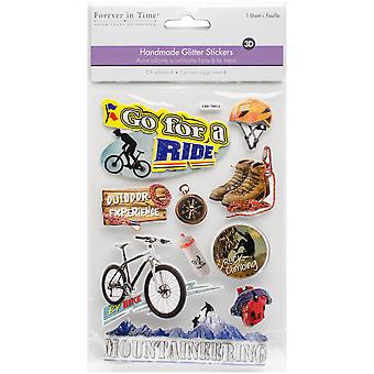 MultiCraft Chipboard Glitter Stickers-Go For A Ride SS852-T