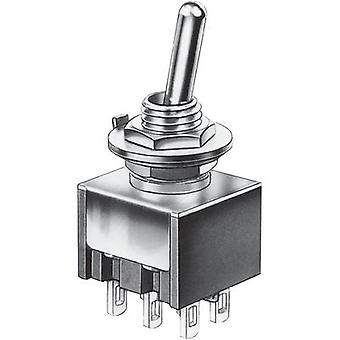 Toggle switch 30 Vdc 4 A 2 x On/On Marquardt 9040.0201 latch 1 pc(s)