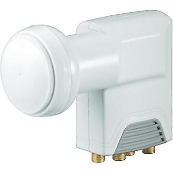 Quad LNB Goobay Universel No. of participants: 4 LNB feed size: 40 mm with switch