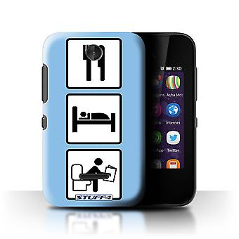 STUFF4 Case/Cover for Nokia Asha 230/Poop/Blue/Eat/Sleep