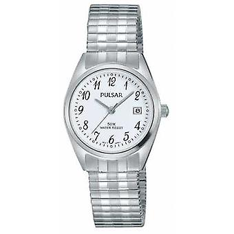 Pulsar Womens Stainless Steel Bracelet White Dial PH7443X1 Watch